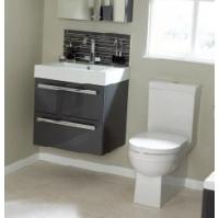 Ceramic wash basin double drawer unit 60 - 80 - Utopia Utopia - B.P.M ...