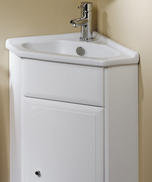 Corner Wash Basin With Cupboard : Gelcast Corner Washbasin Unit 40 - Utopia Utopia - B.P.M Bathrooms Ltd