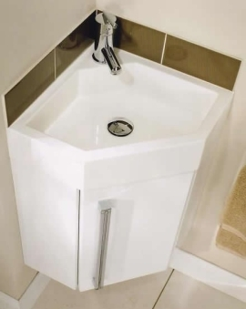 Gelcast Corner Washbasin Unit 40   Utopia Utopia   B.P.M Bathrooms Ltd
