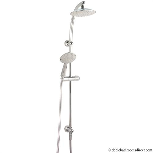 spa fixed head with diverter and shower kit crosswater