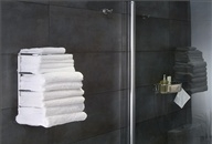 Towel stacker