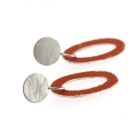 Buoy Earrings With Silver