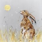 Moongazing Hare - Large Hand Finished Print