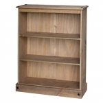 Corona low wide bookcase