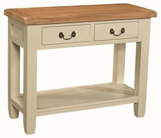 Country cream console table for Cream hall table