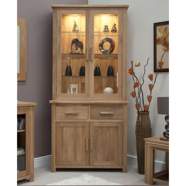 Oxford Small Sideboard With Top Glass Display Cabinets