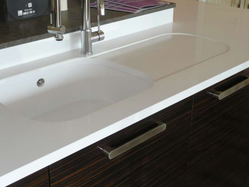 Blanco quartz sink white gold for Silestone kitchen sinks