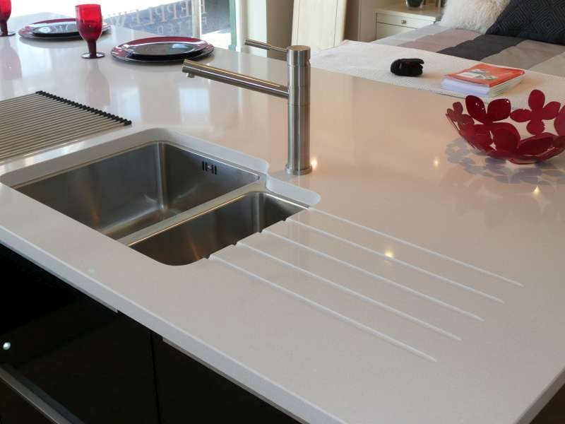 Quartz Worktops : Royale Blanc Quartz Worktops Recent Worktop Projects - Canterbury ...