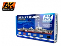 AK 559 SET ACYLIC COLORS FOR GERMAN WARSHIPS 