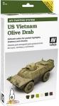 VALLEJO U.S. VIETNAM OLIVE DRAB PAINTING SET #48.412
