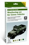 VALLEJO WEATHERING SET FOR GREEN VEHICALS AFV WEATHERING SYSTEM 78.406