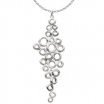 Sterling Silver Honeycomb Cluster Necklace