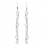 Sterling Silver Long Honeycomb Earrings