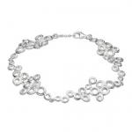 Sterling Silver Mini Honeycomb Cluster Bracelet