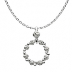 Sterling Silver Ring O'Roses Necklace