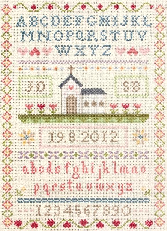 Wedding counted cross stitch patterns kits