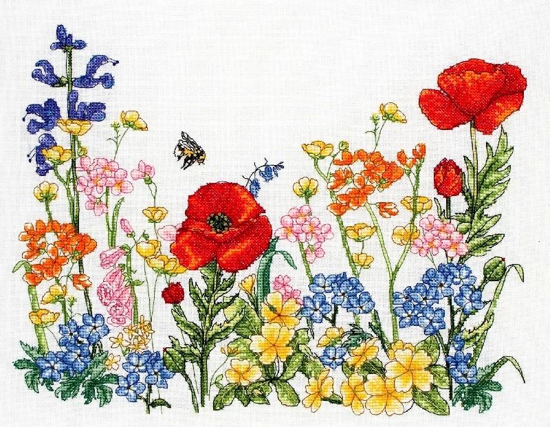 """Комплекты для вышивания  """"ANCHOR """", тема  """"Цветы и пейзажи """".  Вышивка, Вышивальные наборы, Канва, Схемы для вышивания."""
