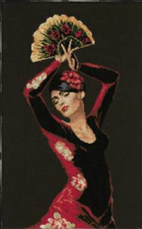 cross stitch spanish dancer