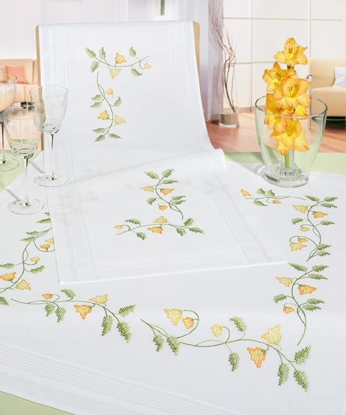 Cross Stitch Tablecloth - Compare Prices, Reviews and Buy at