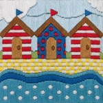 Anchor Long Stitch Starter Kit - Beach Huts