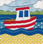 Anchor Long Stitch Starter Kit - Boat