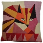 Cleopatra's Needle Needlepoint Cushion Kit - Treacle 14