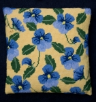 Cleopatra's Needle Needlepoint Kit - Herb Pillow - Blue Pansy