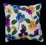 Cleopatra's Needle Needlepoint Kit - Herb Pillow - Pansy Garden