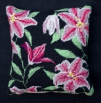 Cleopatra's Needle Needlepoint Kit - Herb Pillow - Stargazer Lily