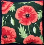 Cleopatra's Needle Needlepoint Kit - Herb Pillow - Wild Poppy