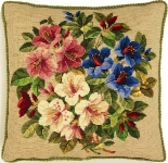 Eva Rosenstand Tapestry/Needlepoint Kit - Floral Bouquet Cushion