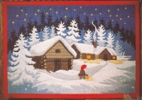 Id�na Long Stitch Picture Kit - Christmas Night