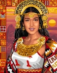 Inca Princess Canvas