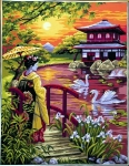 Royal Paris Tapestry/Needlepoint - Japanese Garden