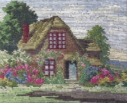 Jolles Tramme Tapestry/Needlepoint Kit - Rhododendron Cottage