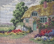 Jolles Tramme Tapestry/Needlepoint Kit - Rose Cottage