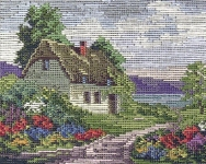 Jolles Tramme Tapestry/Needlepoint Kit - White Cottage