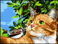 Margot de Paris Tapestry/Needlepoint � Cat and Bird