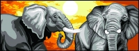 Margot de Paris Tapestry/Needlepoint � Elephants