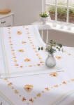 Rico Cross Stitch Tablecloth Kit - 90 x 90cm - Violas