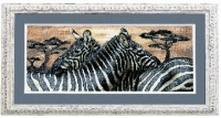 Royal Paris Cross Stitch Kit - Zebras.