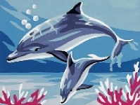 Royal Paris Starter Tapestry Kit - Dolphins at Play