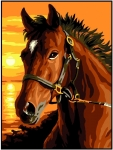 Royal Paris Starter Tapestry/Needlepoint Kit � Horse at Sunset