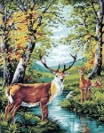Royal Paris Tapestry Canvas - Deer in Forrest