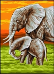 Royal Paris Tapestry Canvas � Elephants
