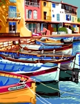 Royal Paris Tapestry � Fishing Harbour