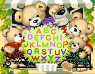 Royal Paris Tapestry Canvas � Floral Teddy Alphabet