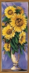 Royal Paris Tapestry Canvas - Vase of Sunflowers Panel