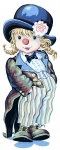 Royal Paris Tapestry Canvases - Clownerie de Pio (Little Girl Clown)