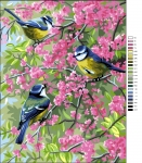 Royal Paris Tapestry/Needlepoint - Blue Tits in the Flowers